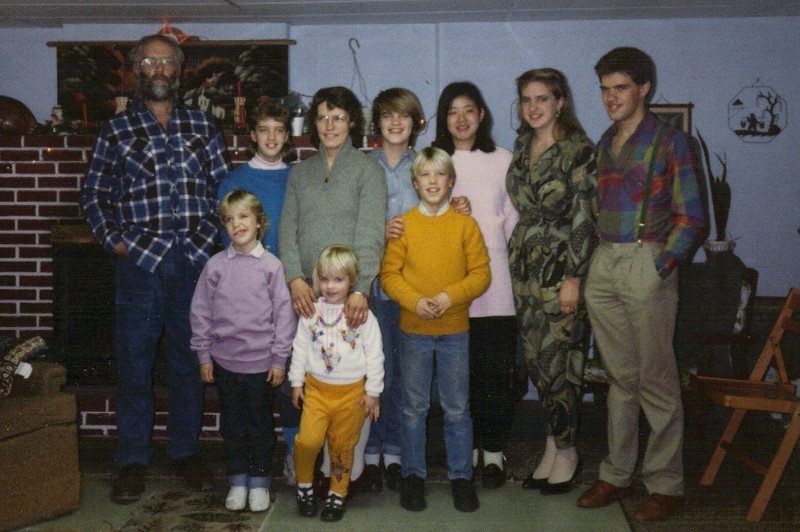 Circa 1989 - Family Christmas photo at Marvin & Kathryn's