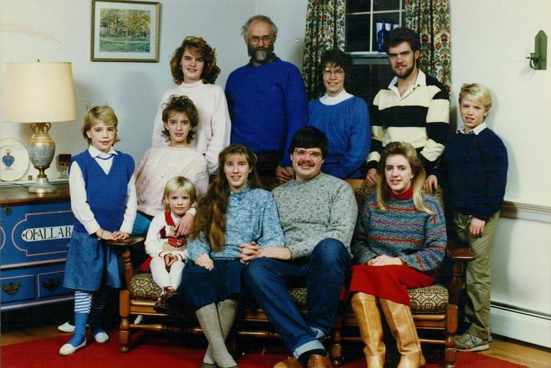 Dec. 1987 -  Family Christmas photo