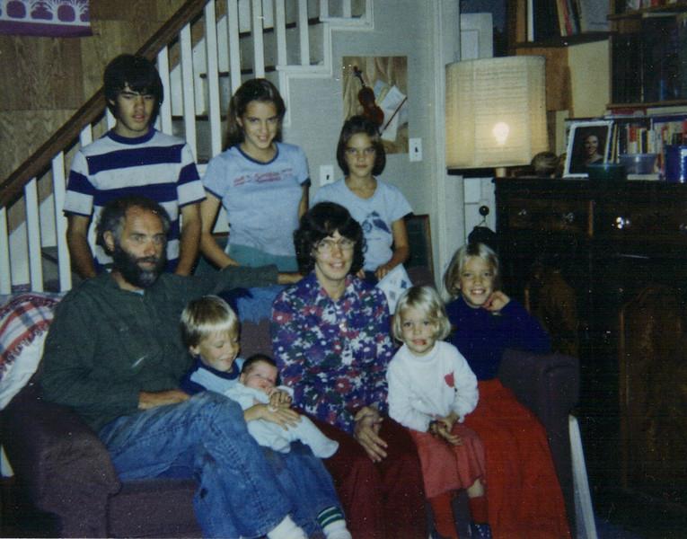 1982 -Family with newborn Chara