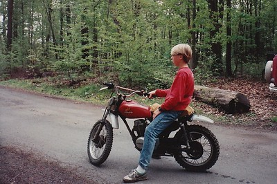 1987 - Ashley with Honda XR75