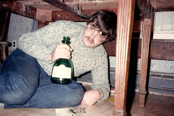 """Circa 1987 -- Rob """"drunk under the table""""! (New Year's)"""