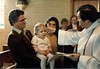 Sophia's baptism, 1982 - with Father Ed, Randy Shelly & Eda Rae Kauffman