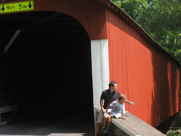 Mike & Xavier at  Knecht's Bridge, near Springtown PA