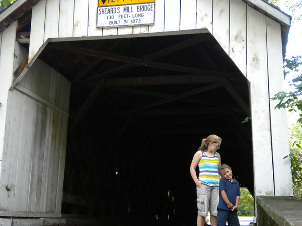 Lydia & Xavier at Sheard's Mill Bridge, near Tohickon Campgrounds