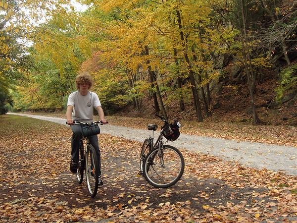 Seth by the Lehigh Gorge trail near Jim Thorpe, PA