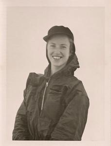 1950 Patricia Mathews in the snow NET