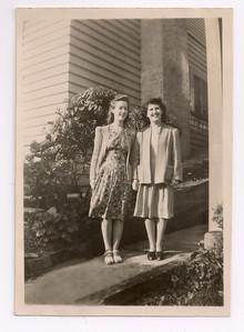 1946 Pat Maylen and Eileen Satherley NET