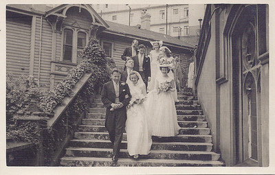 1951 Pat and Ray on St Marys cathedral steps NET