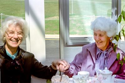 1990 Pat and Eileen taking tea NEG NET