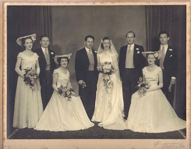 1951 Ray & Pat Mathews wedding a NET