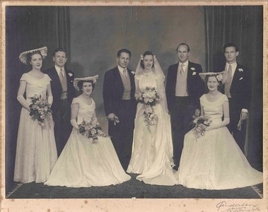 1950 Julie Anderson, JER Mathews, Eileen Satherly and Jim McIvor at Pat & Ray Mathews wedding - 1200dpi a NET
