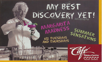 einstein-margaritamadness9promo card for cafe terra cotta, my daughter