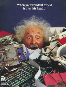 einstein-freaking3ad for a computer company