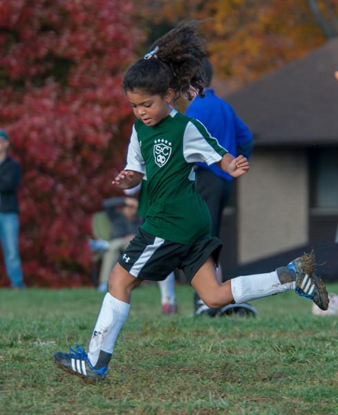 Elena & her soccer team Fall 2013