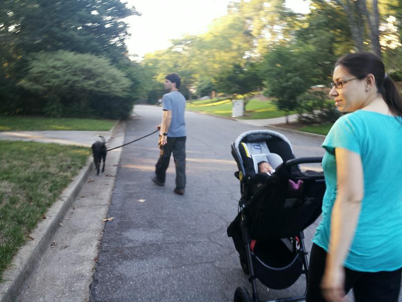 First walk.
