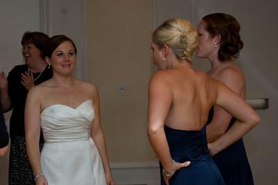 Elizabeth with her bridesmaids.