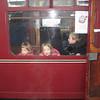 On the santa steam train