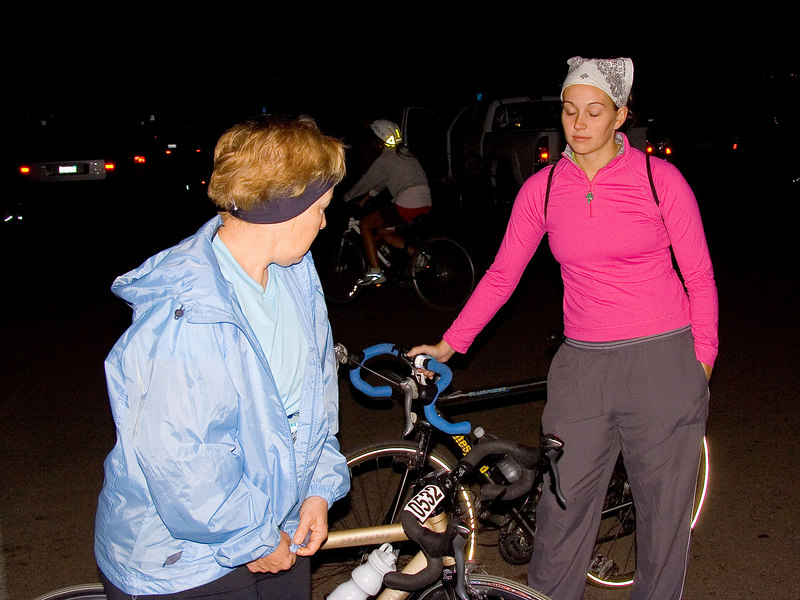 Gearing up before dawn<br /> <br /> Margaret and Bridget