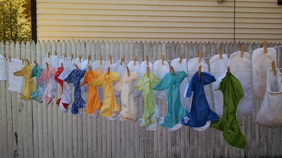 """""""we're a rainbow, made of diapers..."""""""