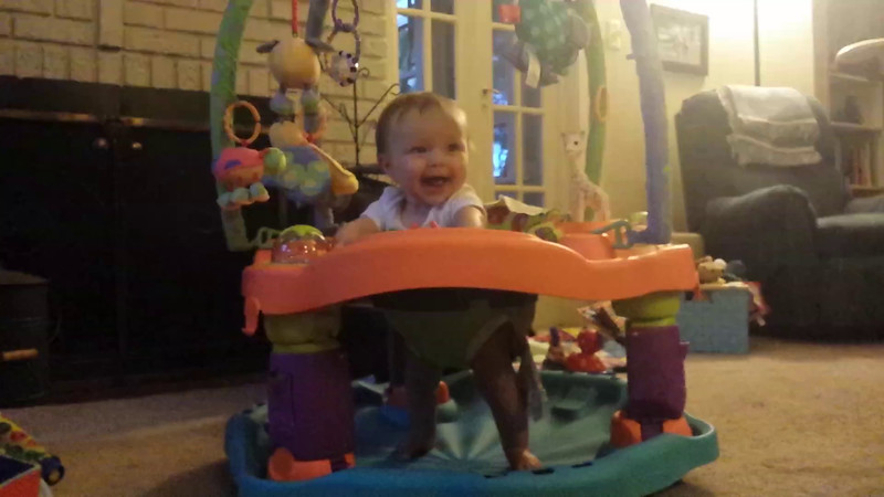 first time in the exersaucer, and loving it! :)