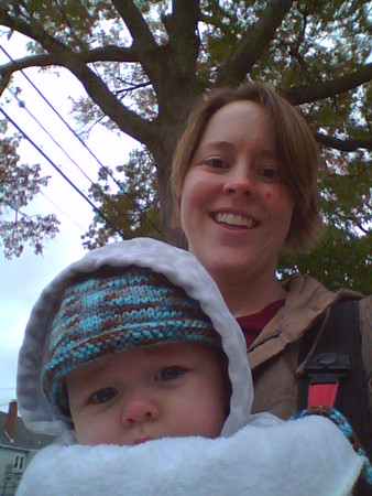 outside on a walk on a chilly day