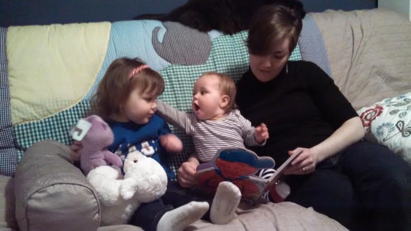 """Julia, Ellie, """"Aunt"""" Emily"""