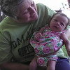 On the back porch with Grandma Brynolfson.