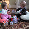 Ellie playing with her friend Daniel  (who is better at sharing than her ;))
