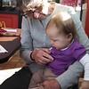 with Grandma Miller, celebrating cousin TJ's birthday