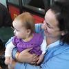 with Aunt Sarah, celebrating cousin TJ's birthday