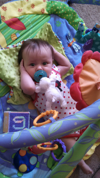 featuring her Ba Ba ba, a 100-day gift from Cousin Amy & family.