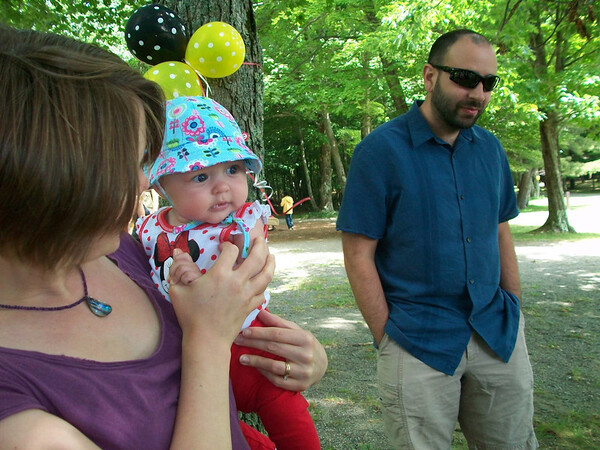 At Natalee's birthday/Nathan's baby shower