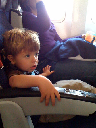First Airplane Ride for Elliot