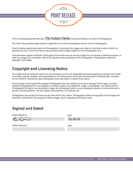 Digital Print Release-8x11