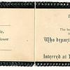 Bessie Disley 10 1907 In Memorium card 16 11 1907