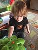 Eloise rockin' the pumpkin bling