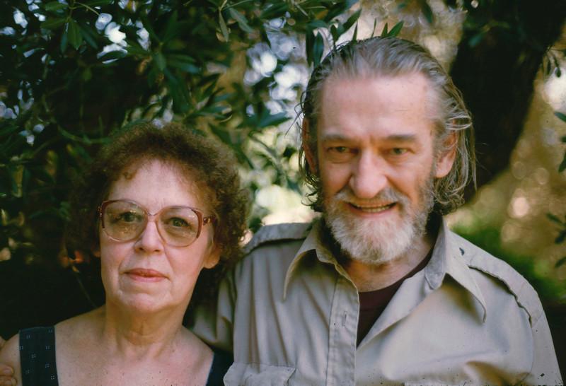 Eleanor and Elwood, shot in Eleanor's backyard in El Cajon, 1985.