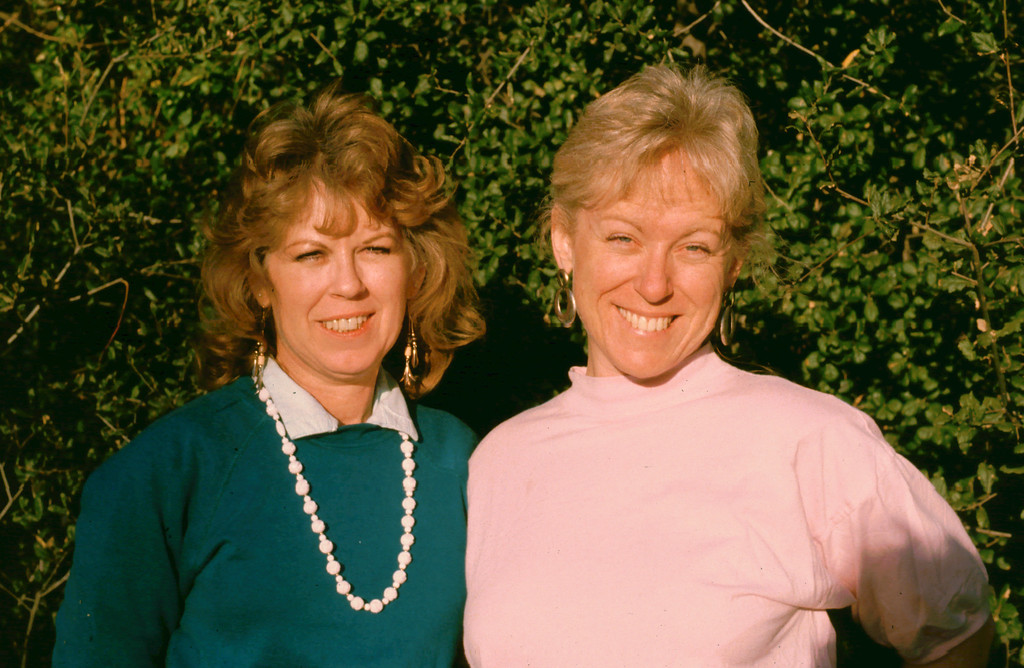 Marion and Sharon (with way too much sunlight in their eyes) 1988
