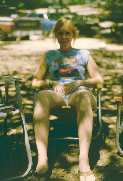 Lisa chills at Paso Picacho, 1985