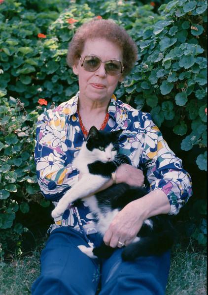 Eleanor with cat