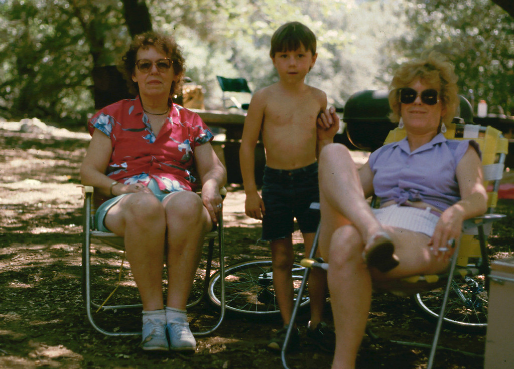 Eleanor, Jeremiah and Marion at Paso Picacho, Cuyamaca Rancho State Park, 1985