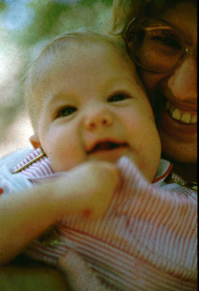 Baby Jennifer with her momma Cheryl