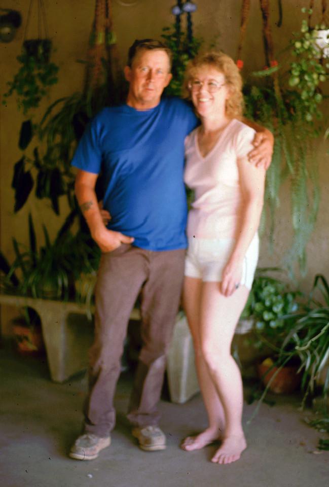 Marion & Whitey 1985 on their patio
