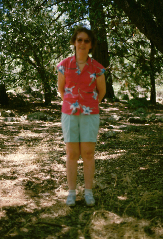 Eleanor at Paso Picacho, Cuyamaca Rancho State Park, 1985