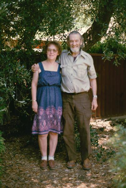 Eleanor and Elwood in El Cajon, 1985.