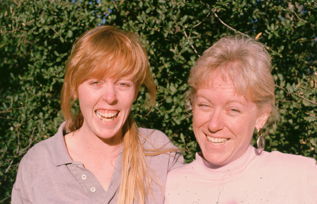 Lisa and Sharon squinting 1988