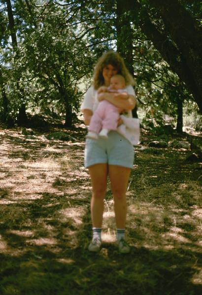 Cheryl with her baby Jennifer