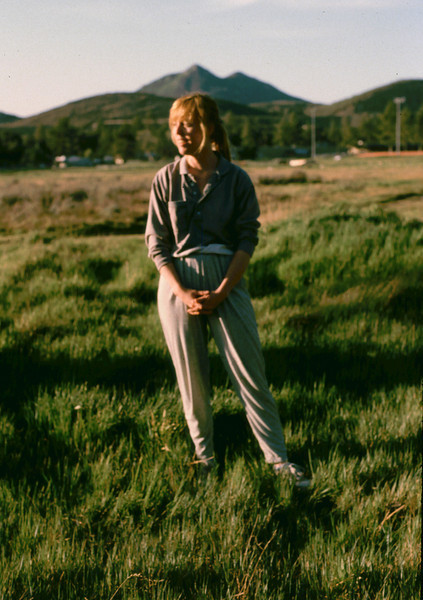Lisa in a meadow of the Cuyamaca Mountains 1988