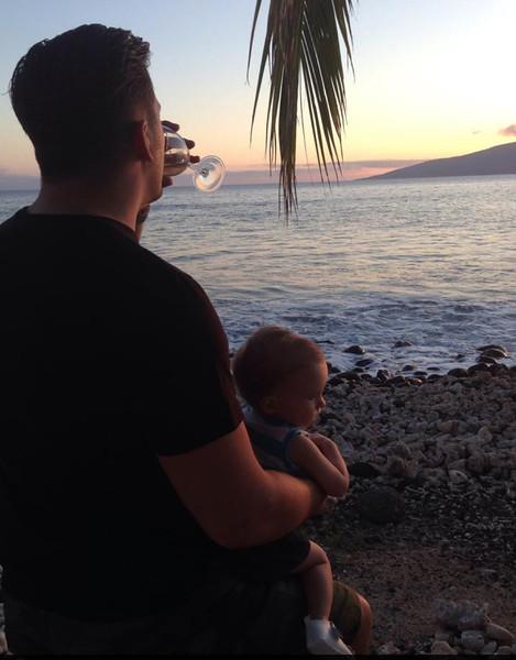 Sun going down in Maui