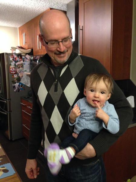 Grandpa's bundle of joy